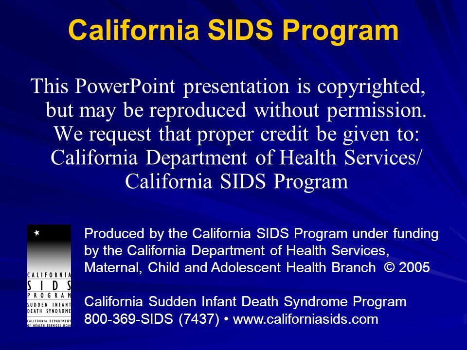 California SIDS Program