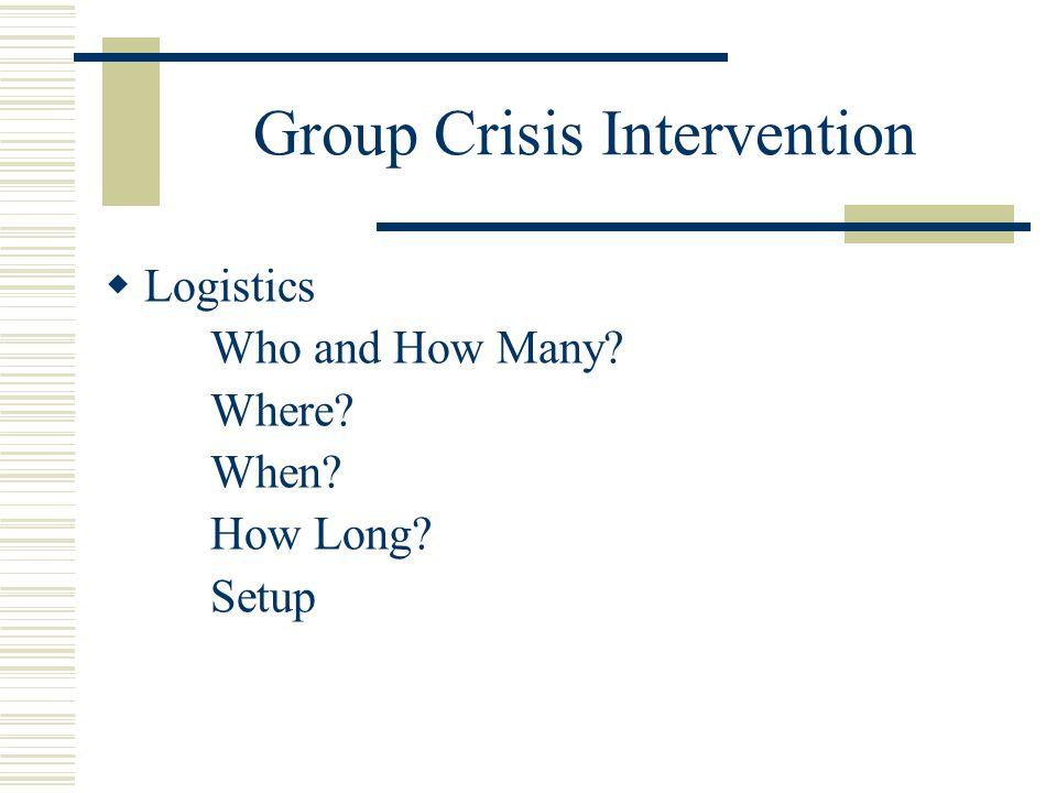 Group Crisis Intervention