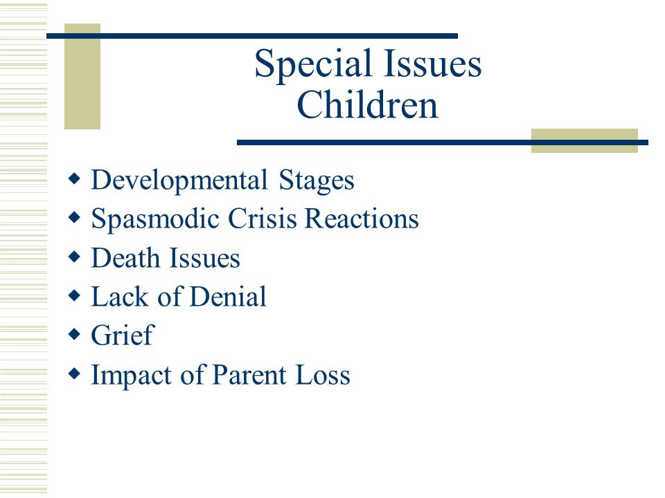 Special Issues Children
