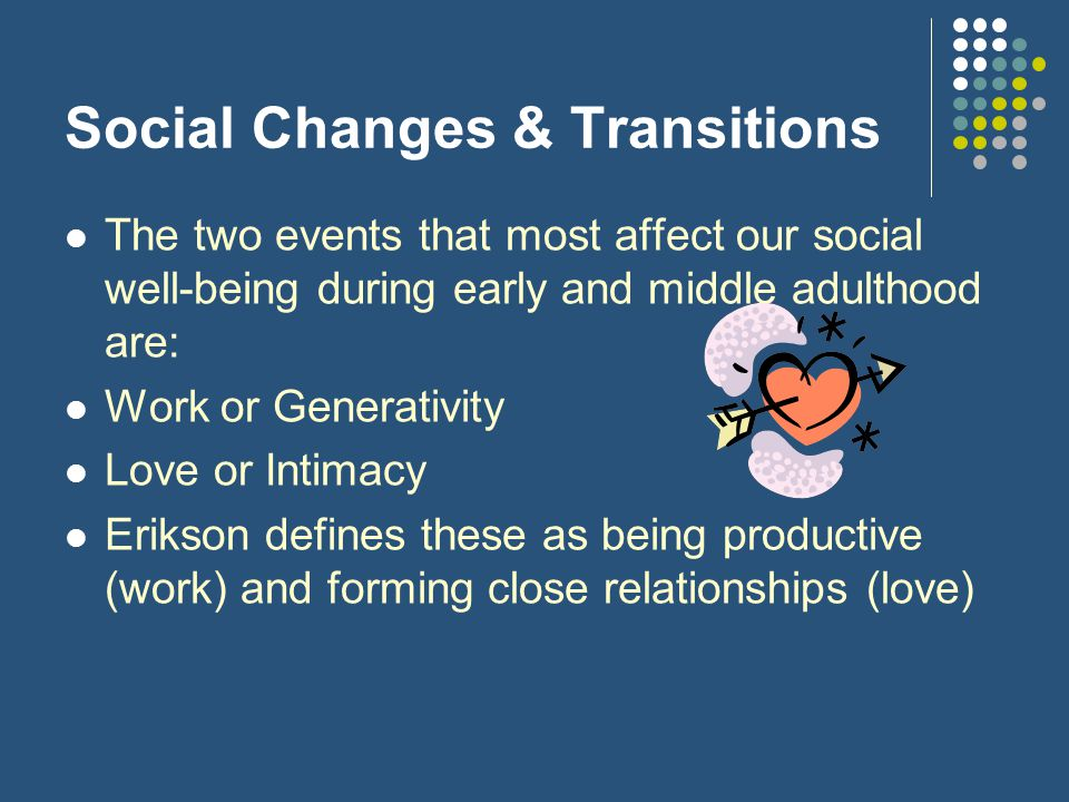 Social Changes & Transitions