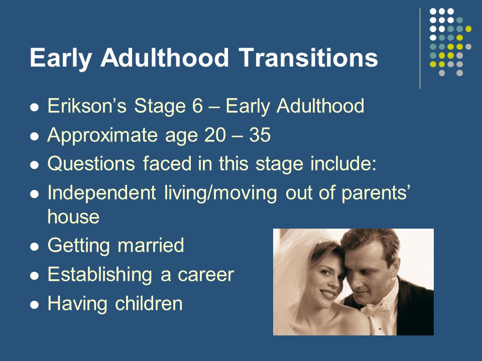 Early Adulthood Transitions