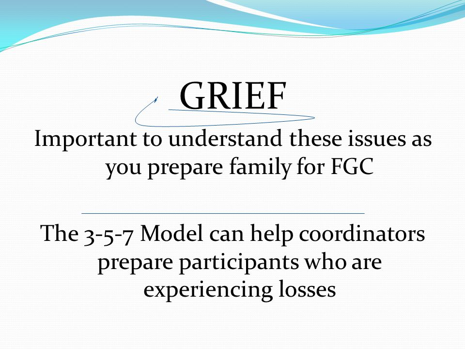 Important to understand these issues as you prepare family for FGC