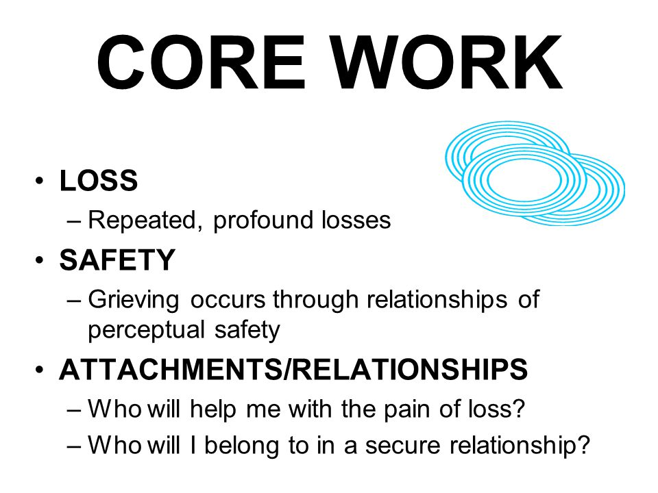 CORE WORK LOSS SAFETY ATTACHMENTS/RELATIONSHIPS