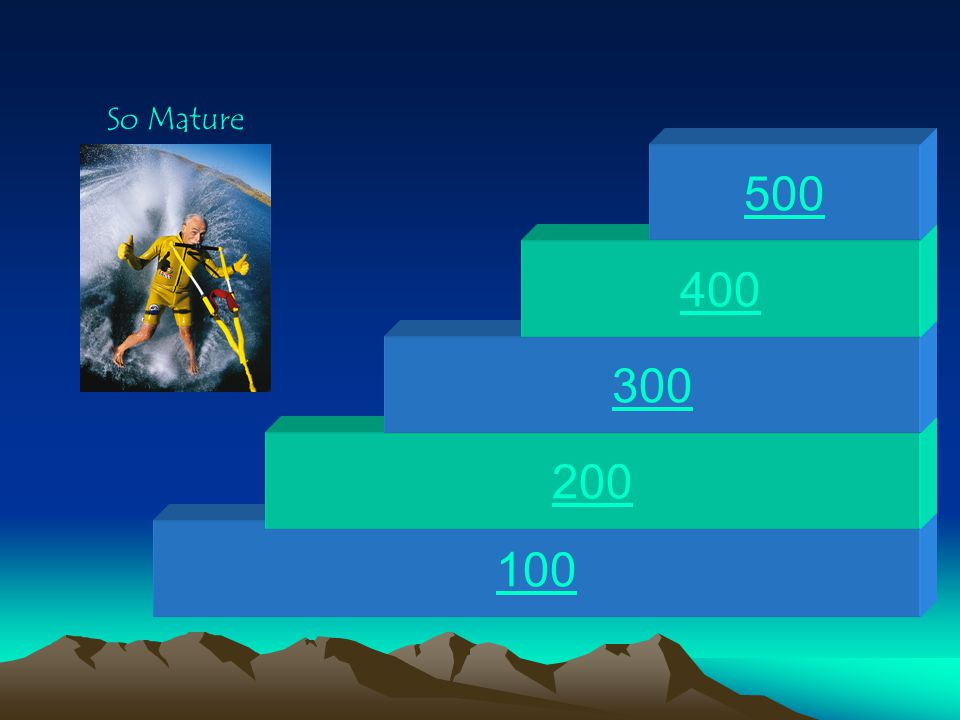 So Mature 500 400 300 200 100