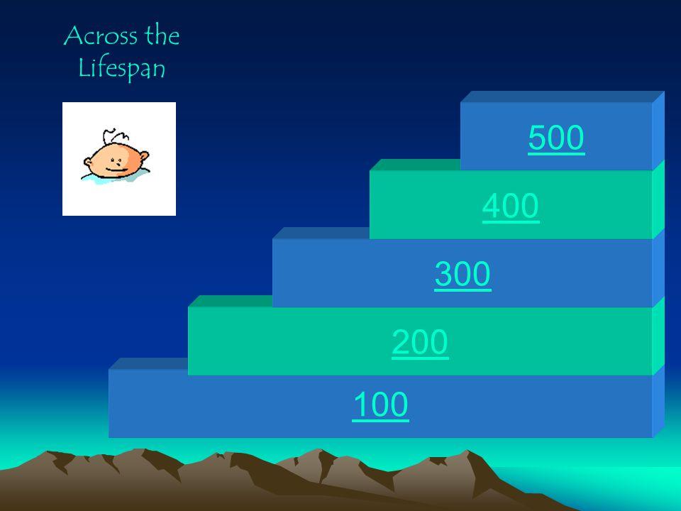 Across the Lifespan 500 400 300 200 100