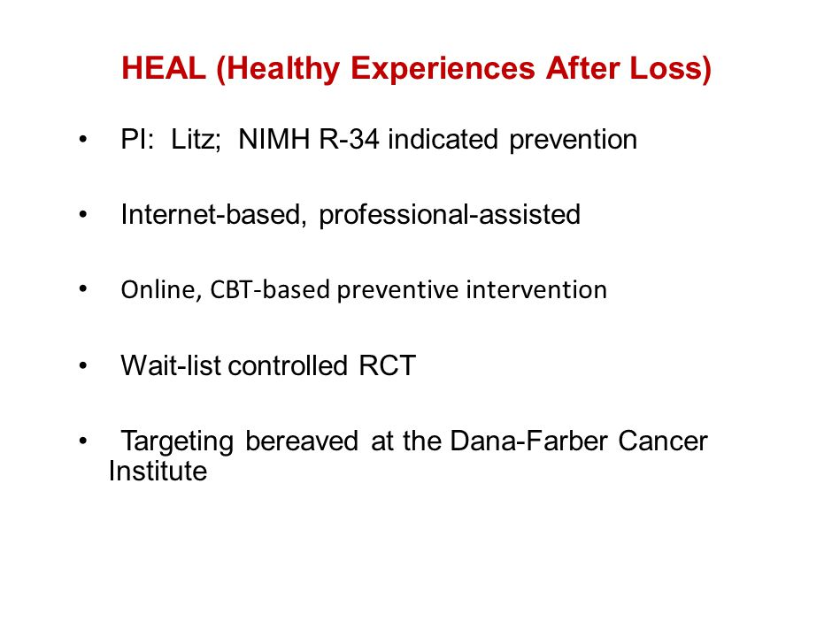 HEAL (Healthy Experiences After Loss)