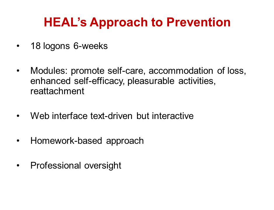 HEAL's Approach to Prevention