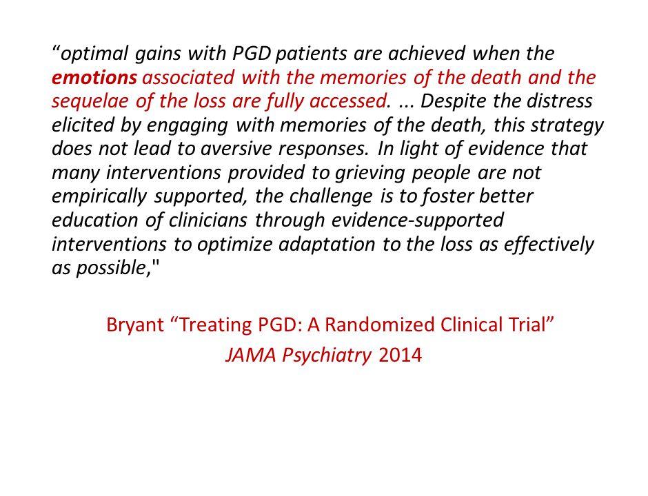 Bryant Treating PGD: A Randomized Clinical Trial