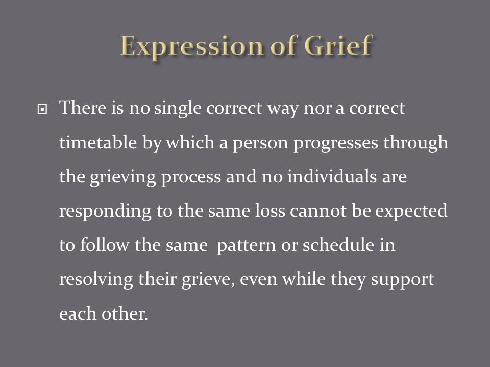 Expression of Grief