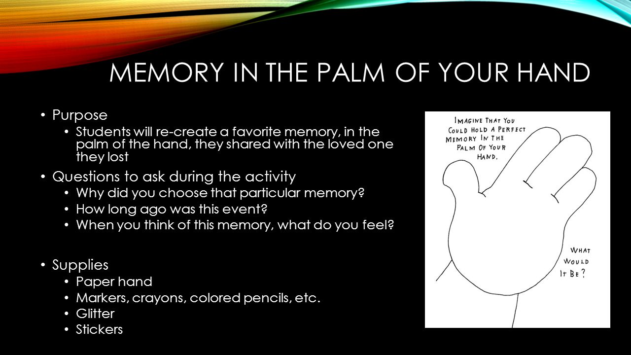 Memory in the Palm of your hand