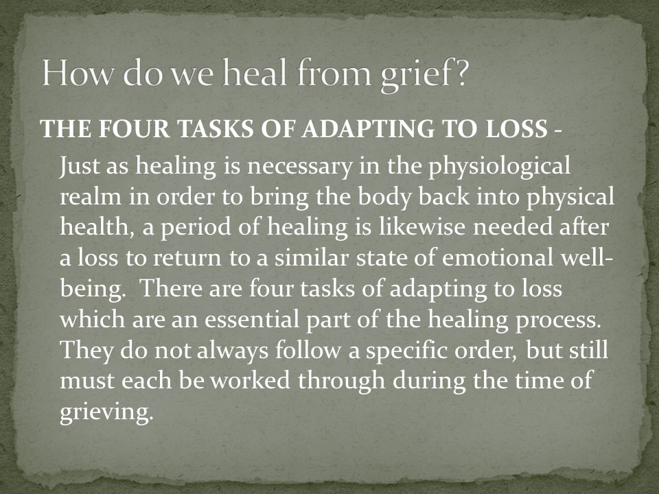 How do we heal from grief