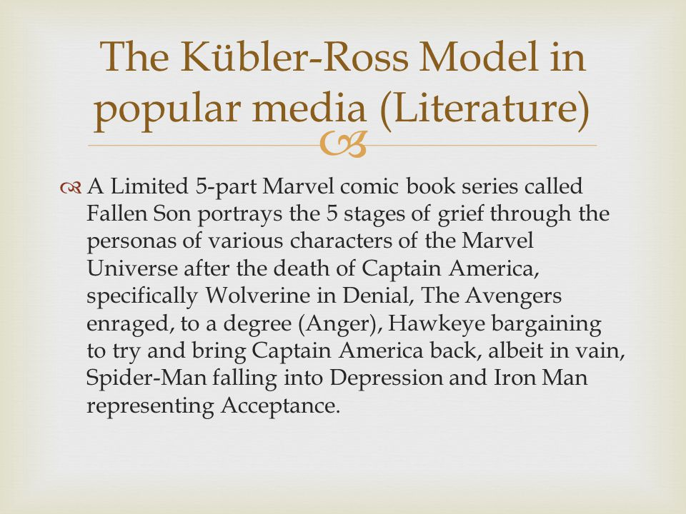 The Kübler-Ross Model in popular media (Literature)