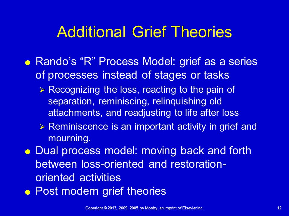 Additional Grief Theories