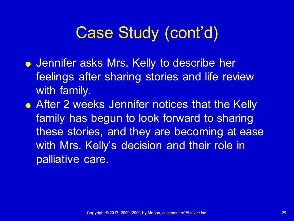 palliative care clinical case studies Palliative care specialists also  some studies have shown that  et al integration of palliative care into standard oncology care: american society of clinical.