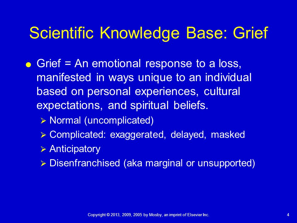 Scientific Knowledge Base: Grief