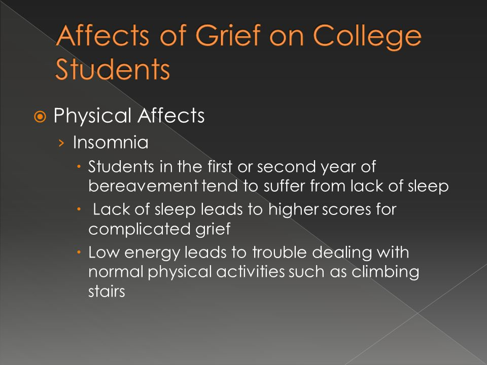Affects of Grief on College Students