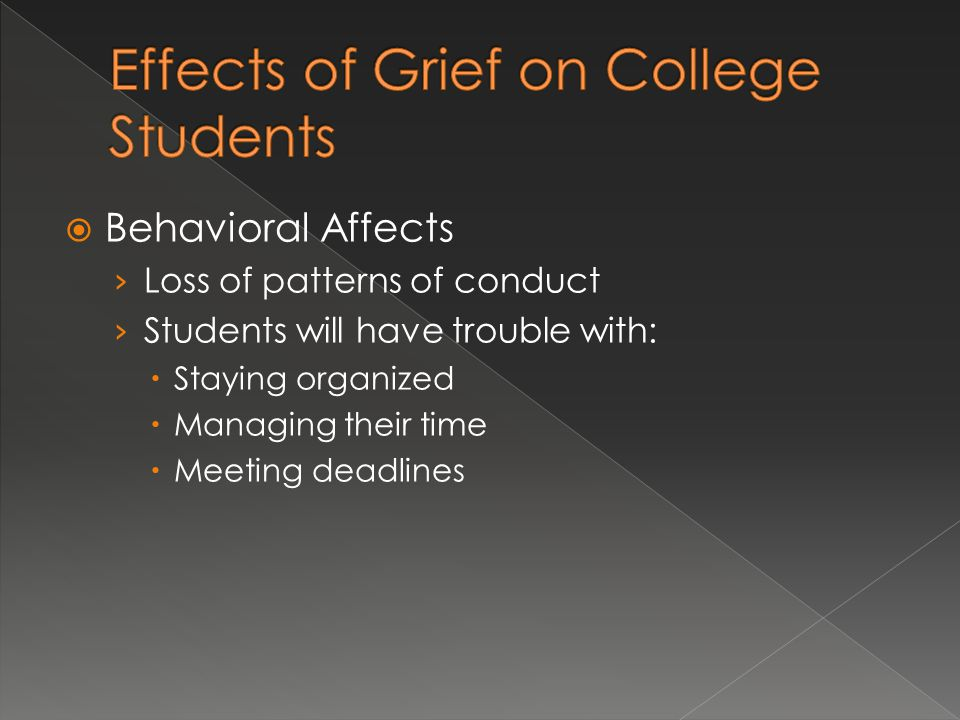 Effects of Grief on College Students