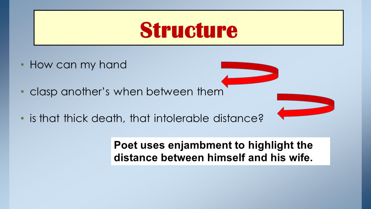 Structure How can my hand clasp another's when between them
