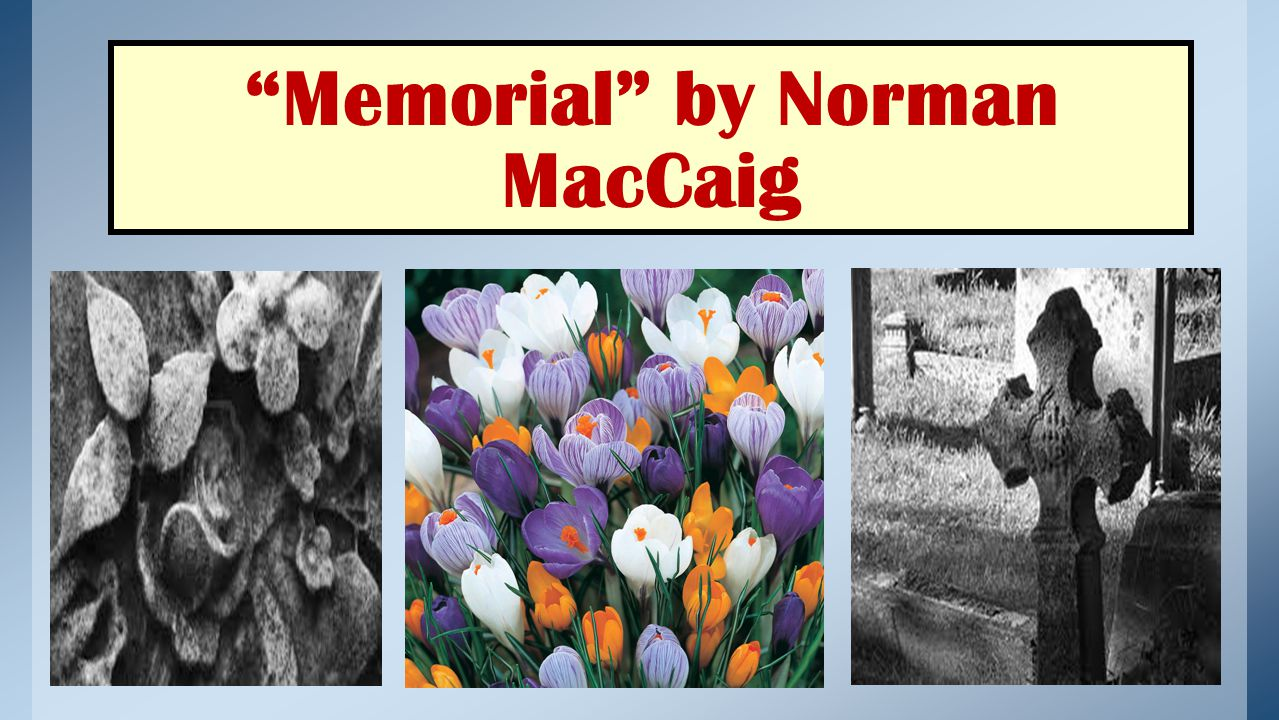 Memorial by Norman MacCaig
