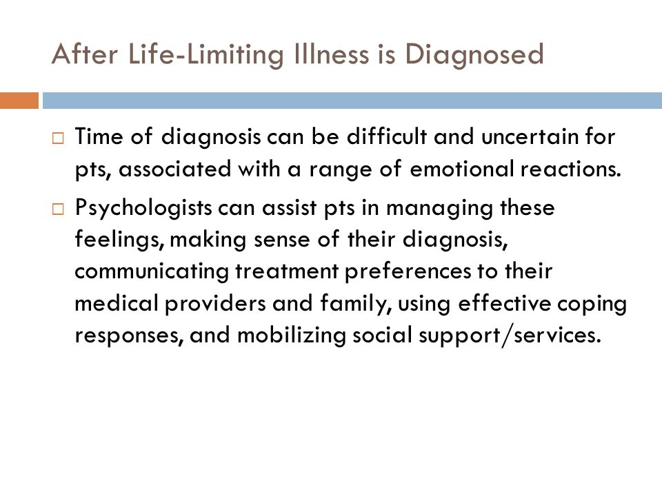 After Life-Limiting Illness is Diagnosed
