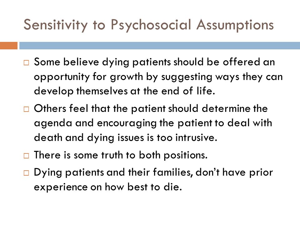 Sensitivity to Psychosocial Assumptions
