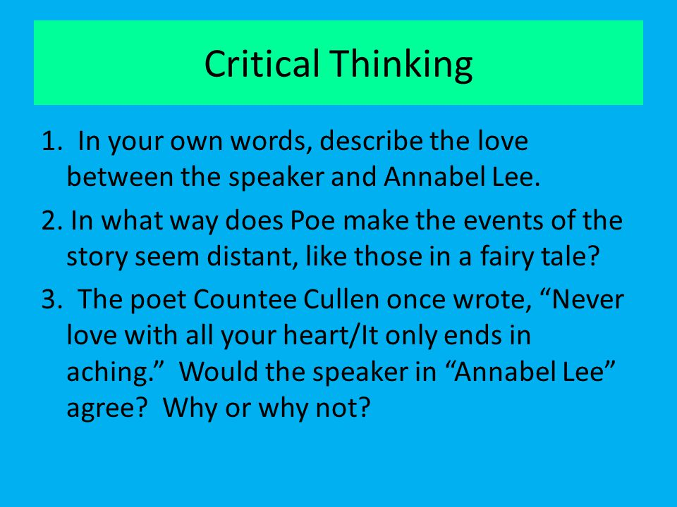 Three words that describe critical thinking