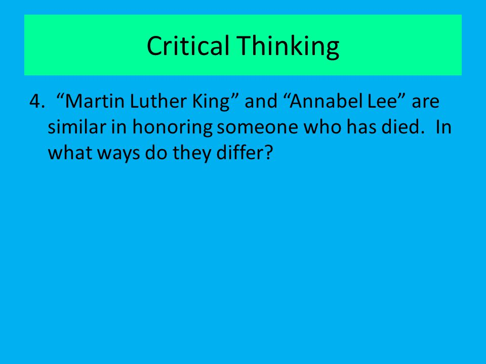 Critical Thinking 4.