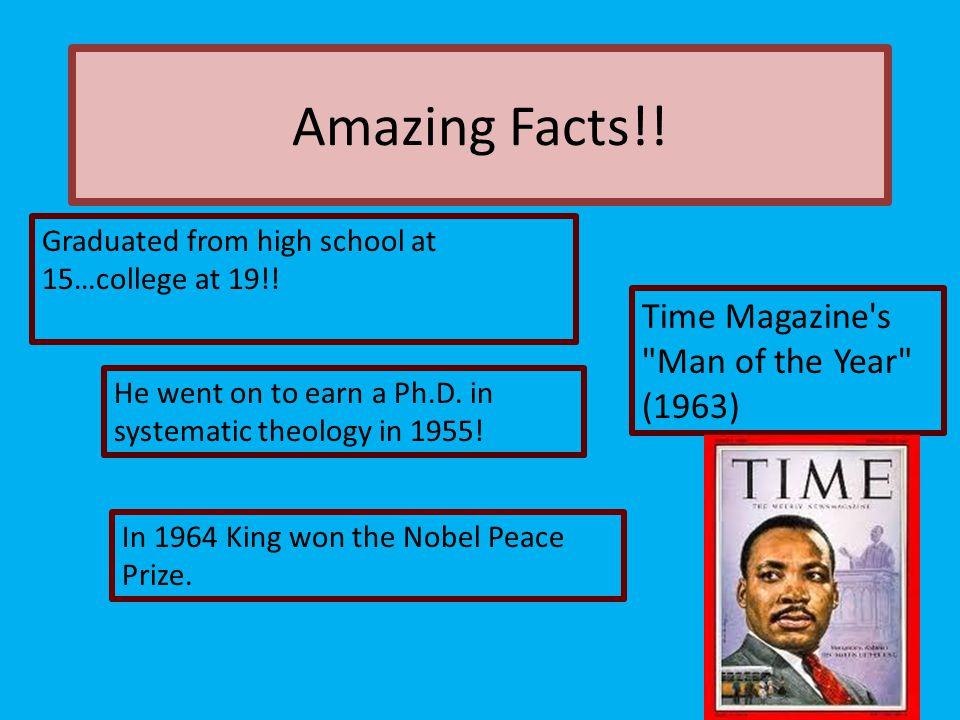 Amazing Facts!! Time Magazine s Man of the Year (1963)