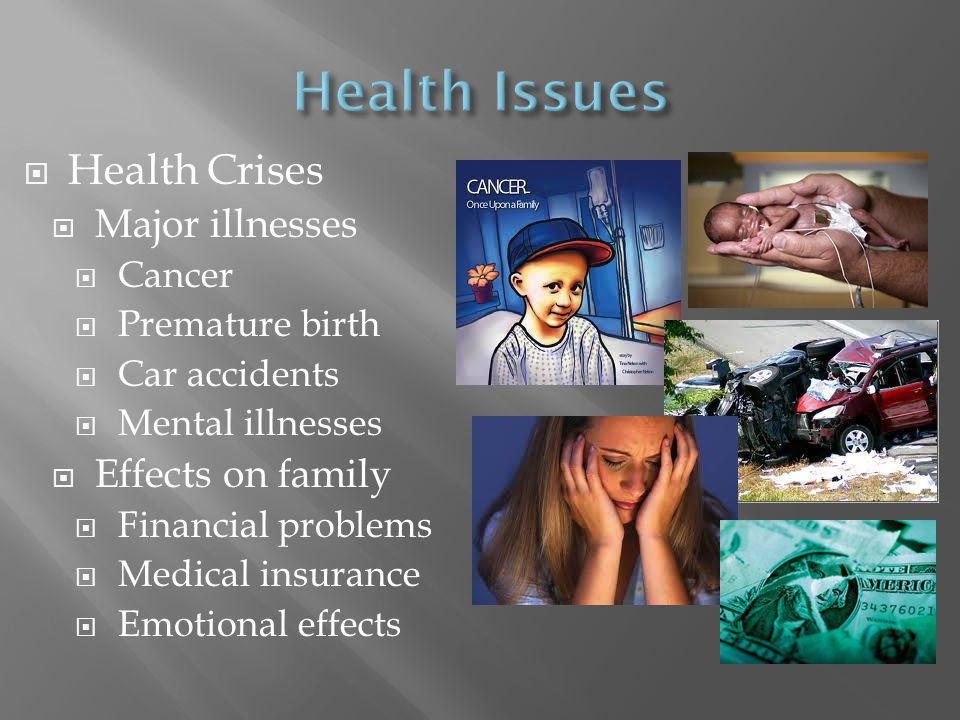 Health Issues Health Crises Major illnesses Effects on family Cancer