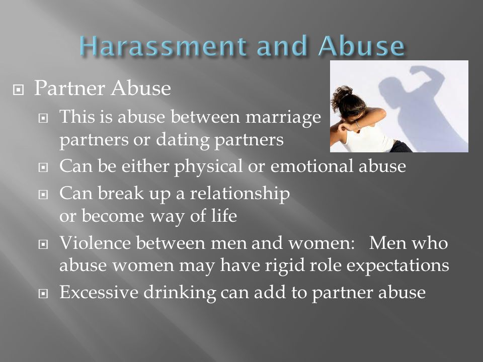 Harassment and Abuse Partner Abuse