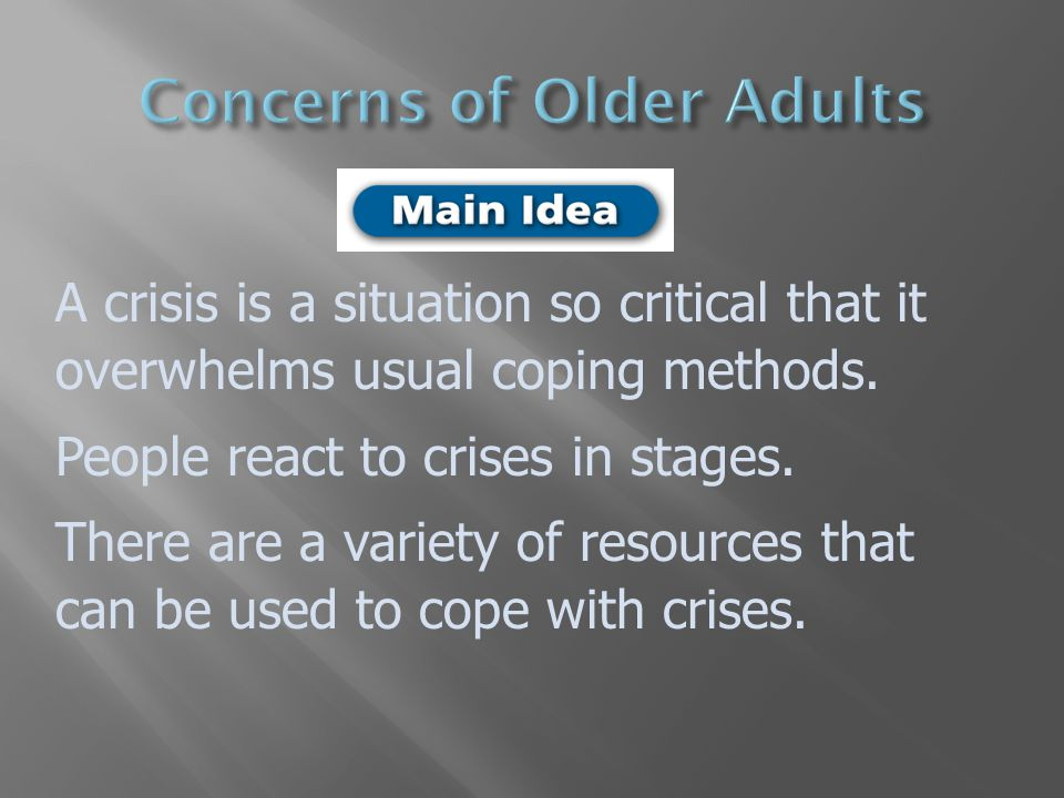 Concerns of Older Adults