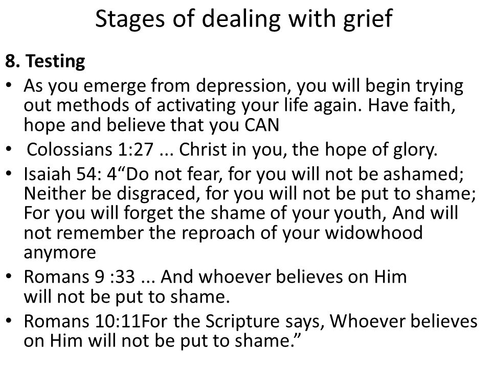 Stages of dealing with grief