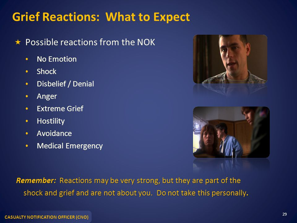Grief Reactions: What to Expect