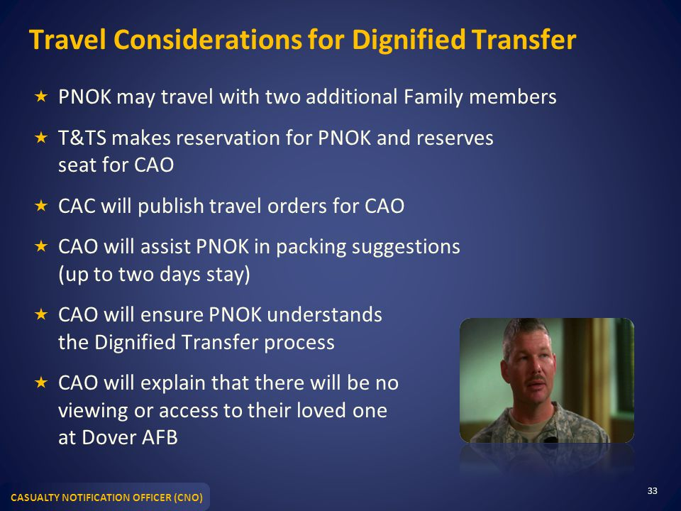 Travel Considerations for Dignified Transfer