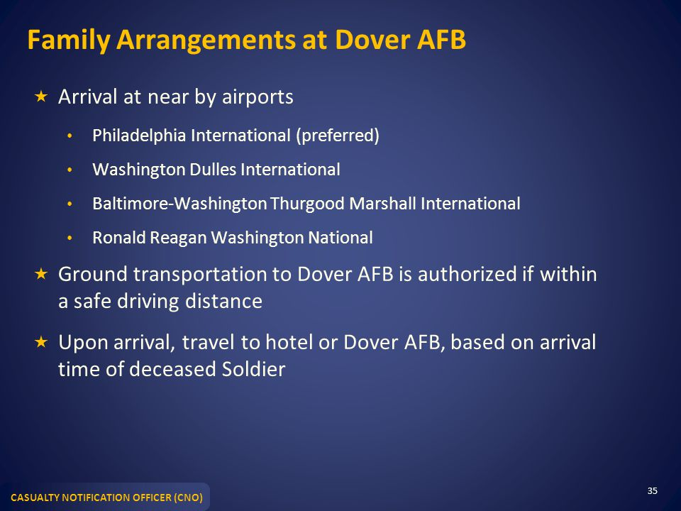 Family Arrangements at Dover AFB