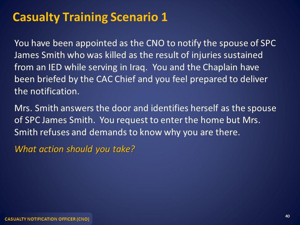 Casualty Training Scenario 1