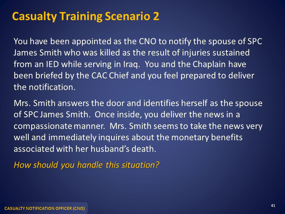 Casualty Training Scenario 2