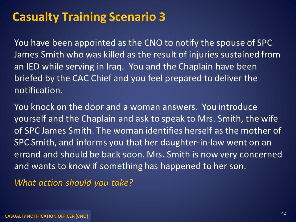 Casualty Training Scenario 3