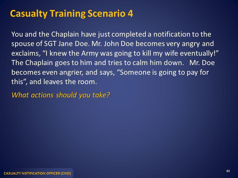 Casualty Training Scenario 4
