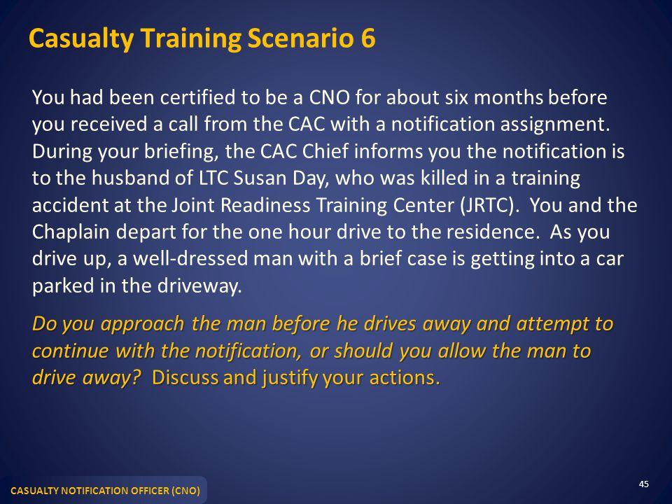Casualty Training Scenario 6