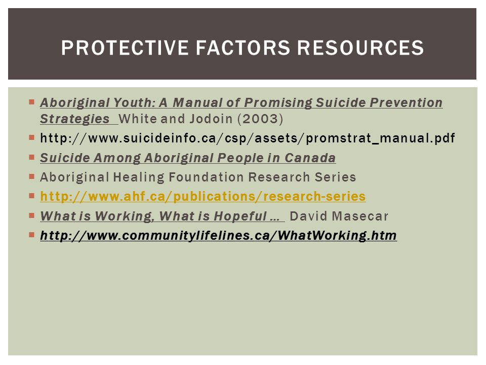 Protective Factors Resources