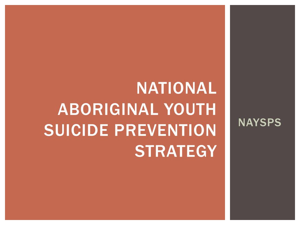 National Aboriginal youth suicide prevention strategy