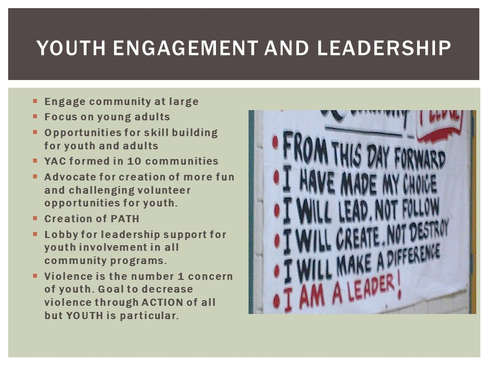 Youth Engagement and Leadership