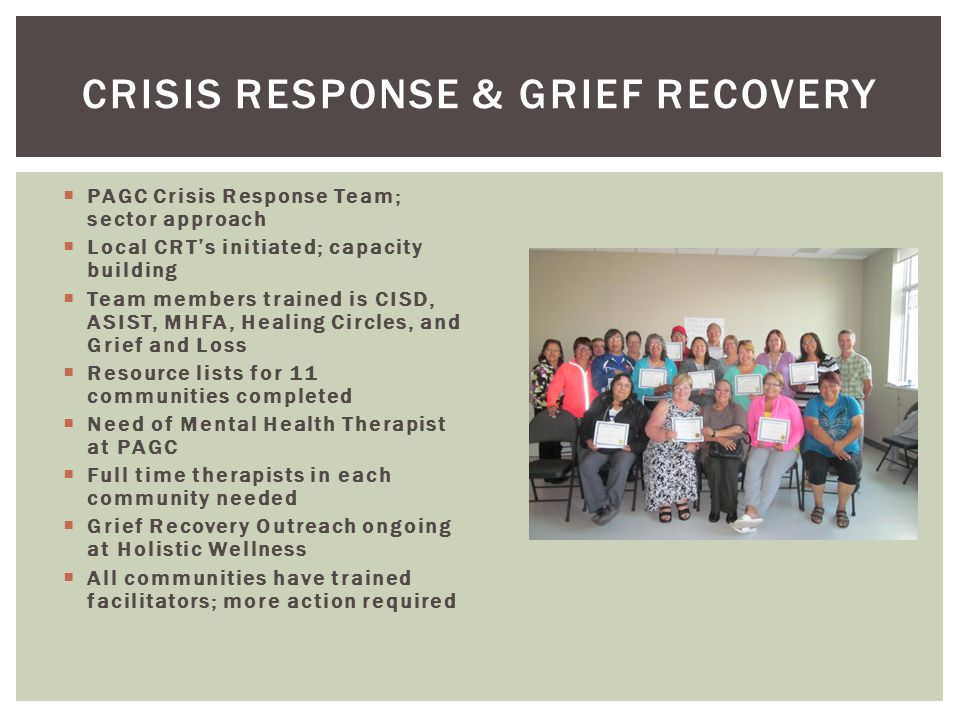 Crisis Response & Grief Recovery