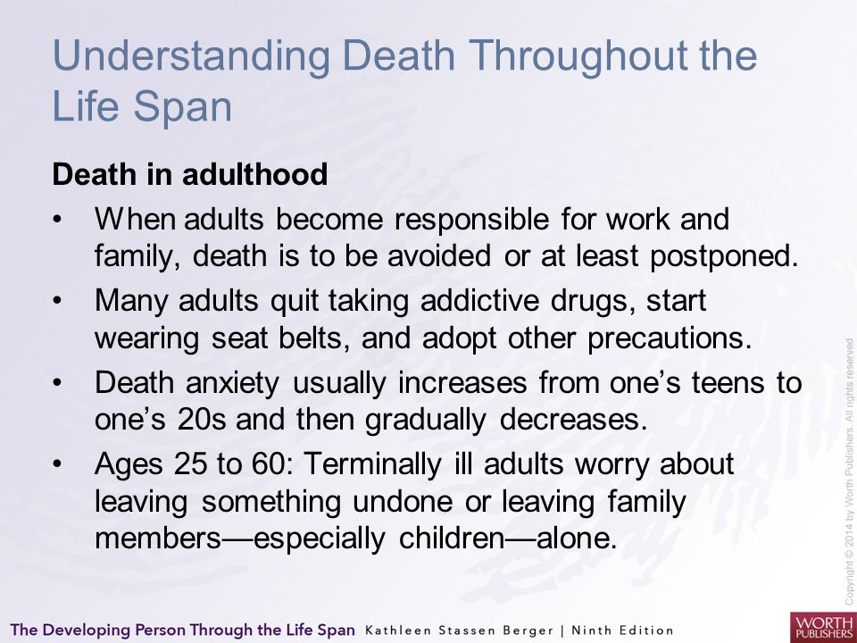 Understanding Death Throughout the Life Span