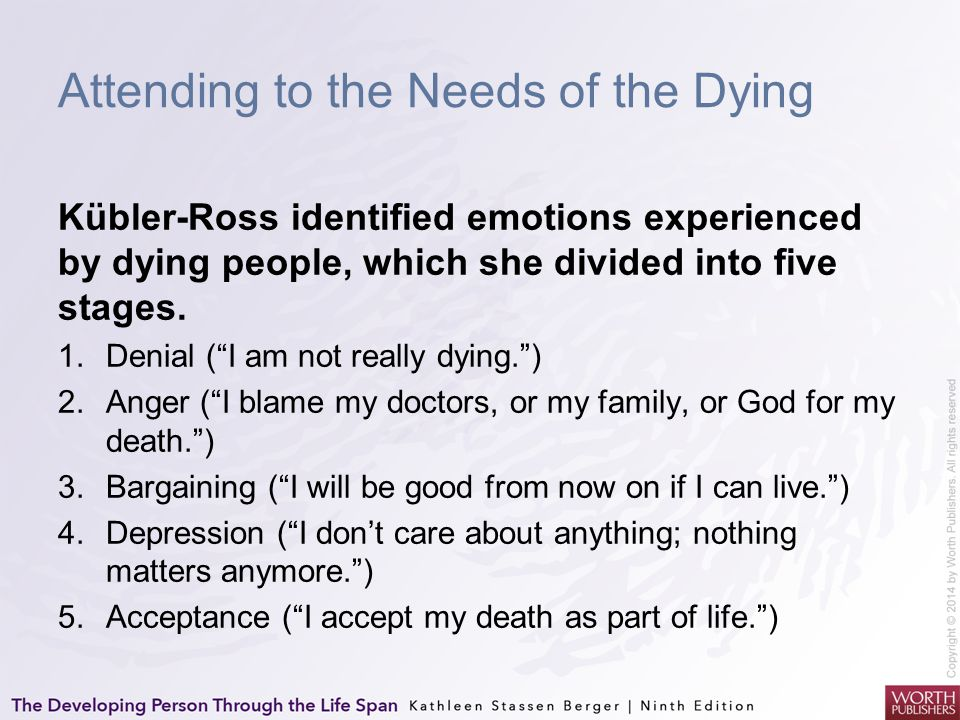 Attending to the Needs of the Dying