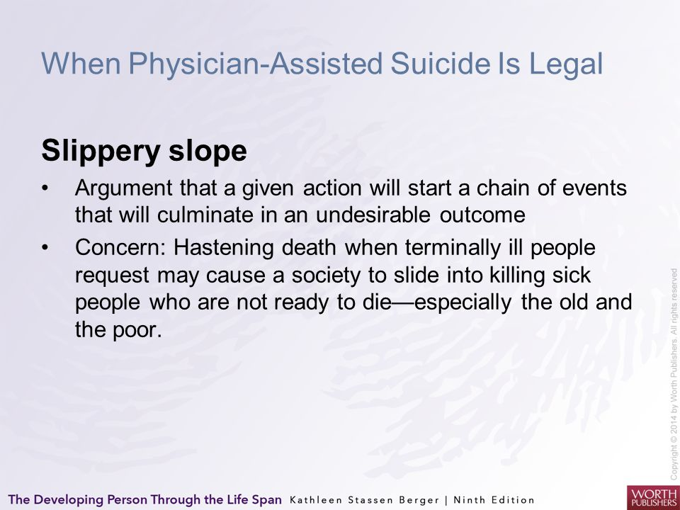 an argument in favor of physician assisted suicide Neil gorsuch's book on assisted suicide highlights the danger of judges who   the sixth jurisdiction in the united states to permit physician-assisted suicide   arguments in favor of legalizing assisted suicide and euthanasia.