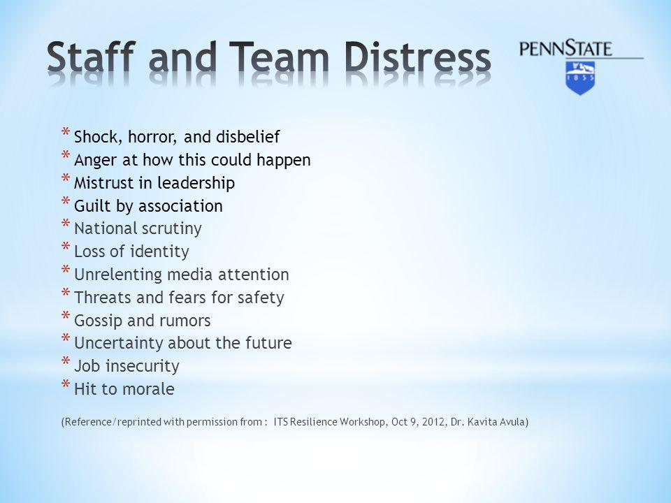 Staff and Team Distress