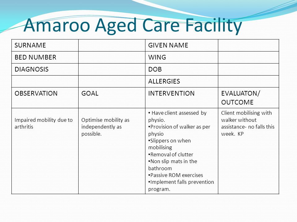 Amaroo Aged Care Facility