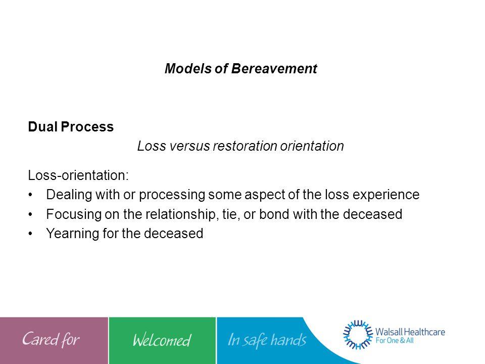 Loss versus restoration orientation